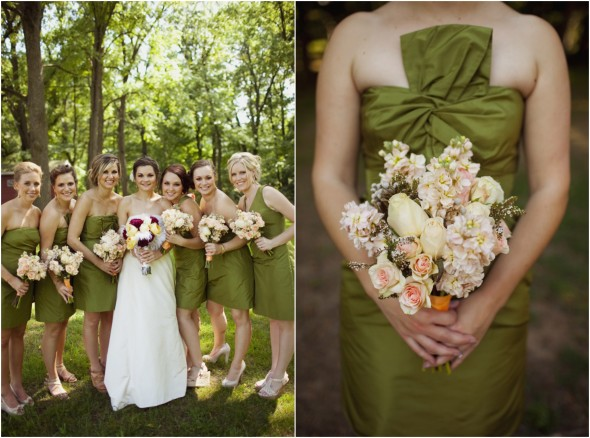 Rustic wedding at historic bowens mills rustic wedding chic - Olive green colour schemes ...
