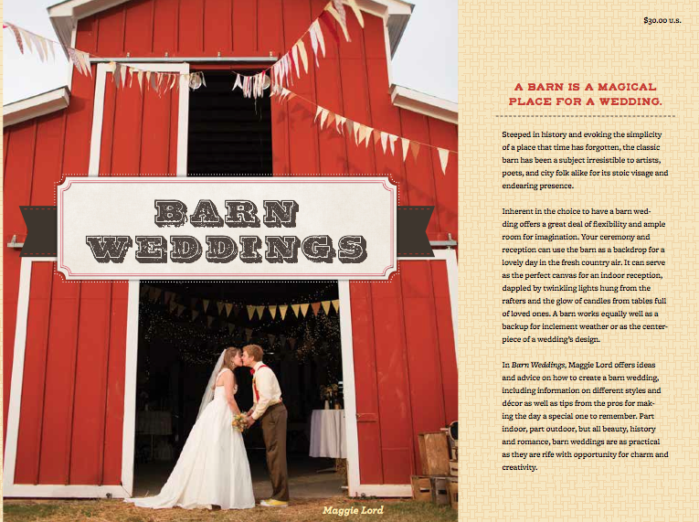 The best wedding book on how to plan a barn wedding