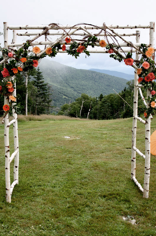 A Birch Wedding Arbor For An Outdoor Country Rusic Wedding