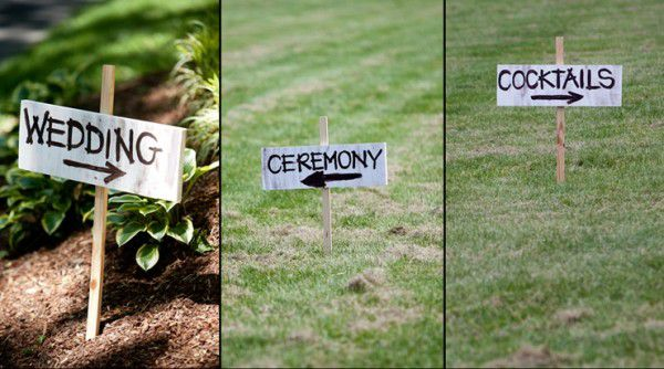 Directional Signs for a Country BBQ Wedding