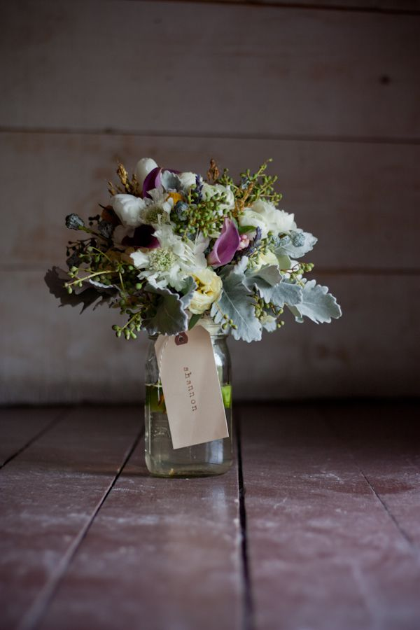 A vintage style country weding bouquet