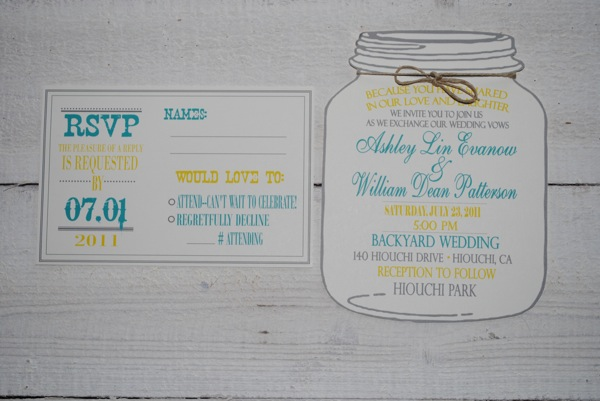 Mason Jar Wedding Invitations Template - Free mason jar wedding invitation templates