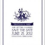 Rustic Save The Date With Deer