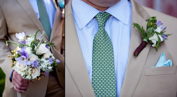 Country BBQ wedding bouquet and boutonniere