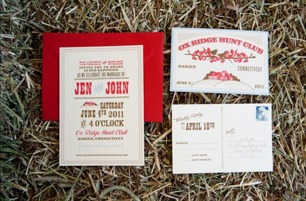 A country wedding invitation for a BBQ wedding