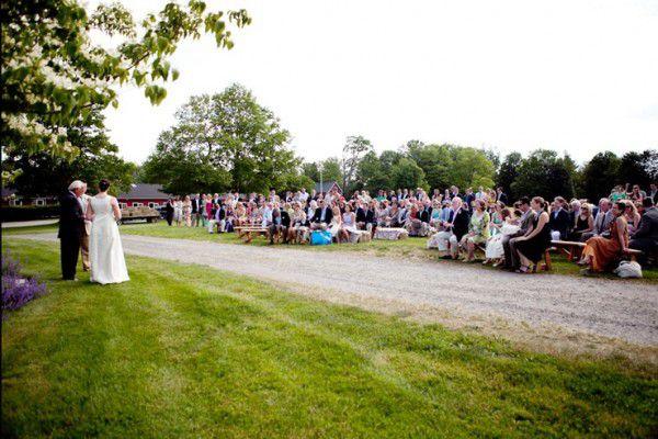 Country Wedding Outdoor Ceremony