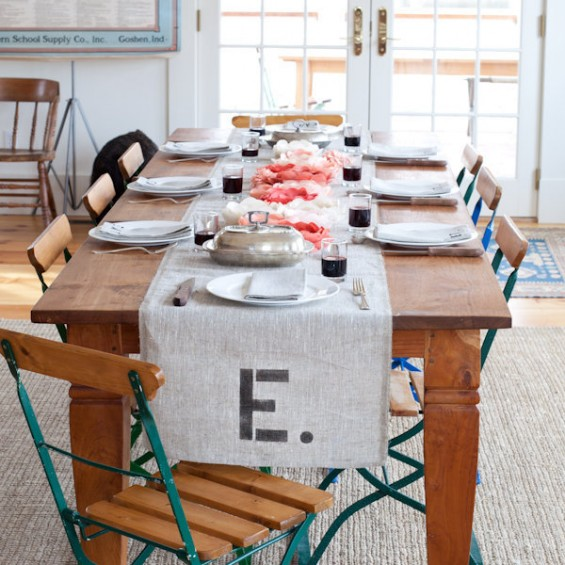 Country Wedding Table Runner Ideas