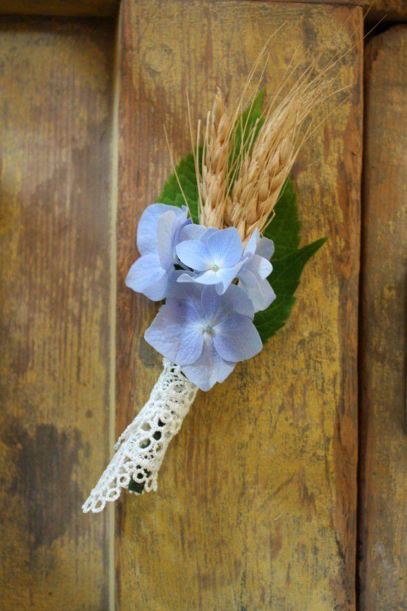 Wheat Wedding Boutonniere