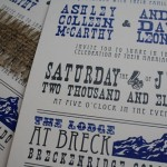 Rustic Wedding Blue Wedding Invitation