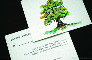 Painted Tree Invitation