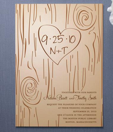 Rustic Chic Wedding Invitations For Fall Weddings