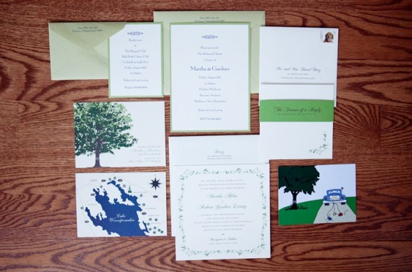 Lake Themed Wedding Invitations: Real Rustic Wedding: Lake Winnipesaukee, NH