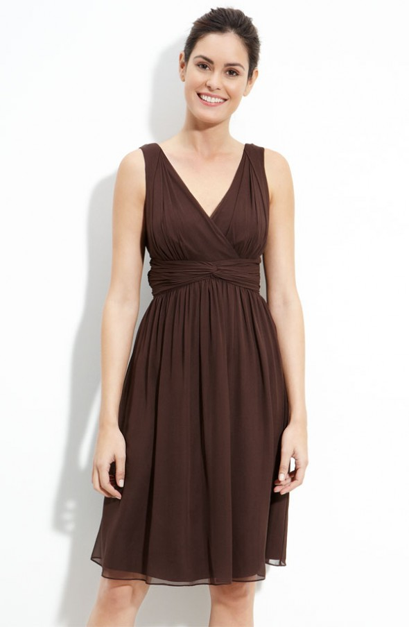 Ask maggie brown bridesmaids dresses for a country for Brown dresses for a wedding