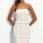 Strapless White Bridesmaid Dress