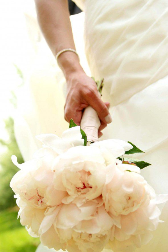 White Rustic Wedding Flowers