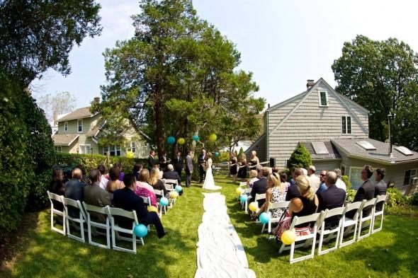 Intimate Rustic Backyard Wedding: An Intimate Backyard Connecticut Wedding