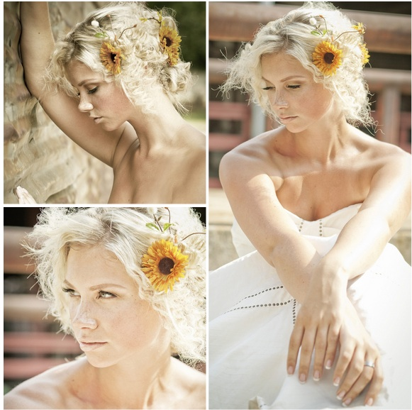 Country Wedding Hairstyles: Country Chic Bridal Session Shoot