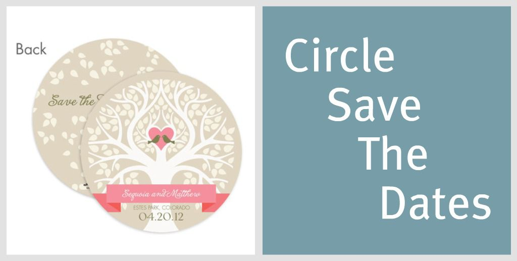 Rustic Round Save The Date Cards Rustic Wedding Chic