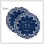 Round Save The Date Cards