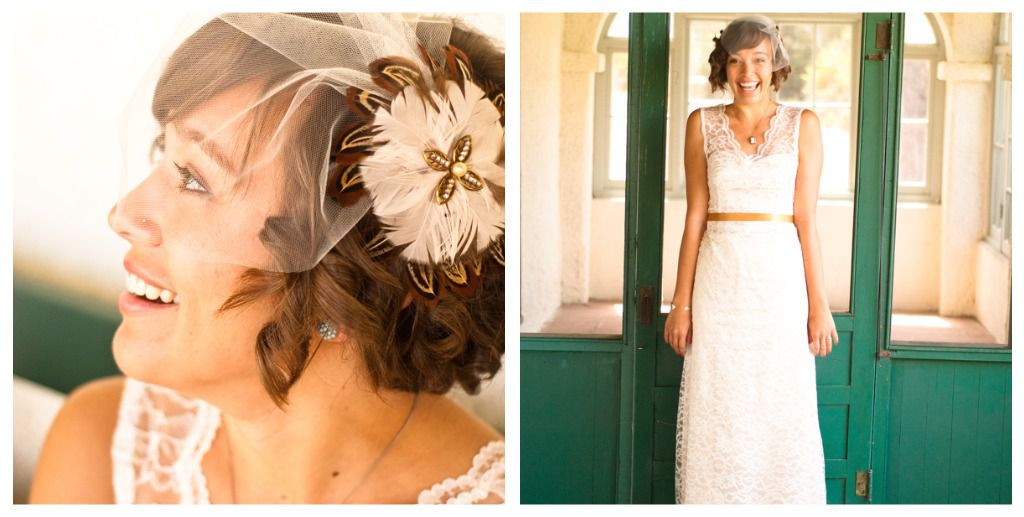 Vintage Style Wedding Gown At A Vintage Style Wedding