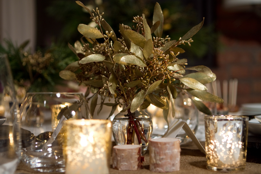 Holiday themed wedding inspiration rustic chic