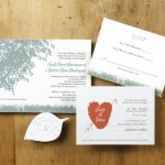 Eco-friendly rustic wedding tree invitation
