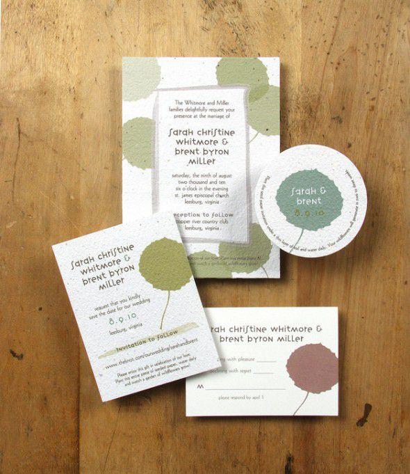 Wedding Invitations Eco Friendly: Eco-friendly Rustic Wedding Invitations