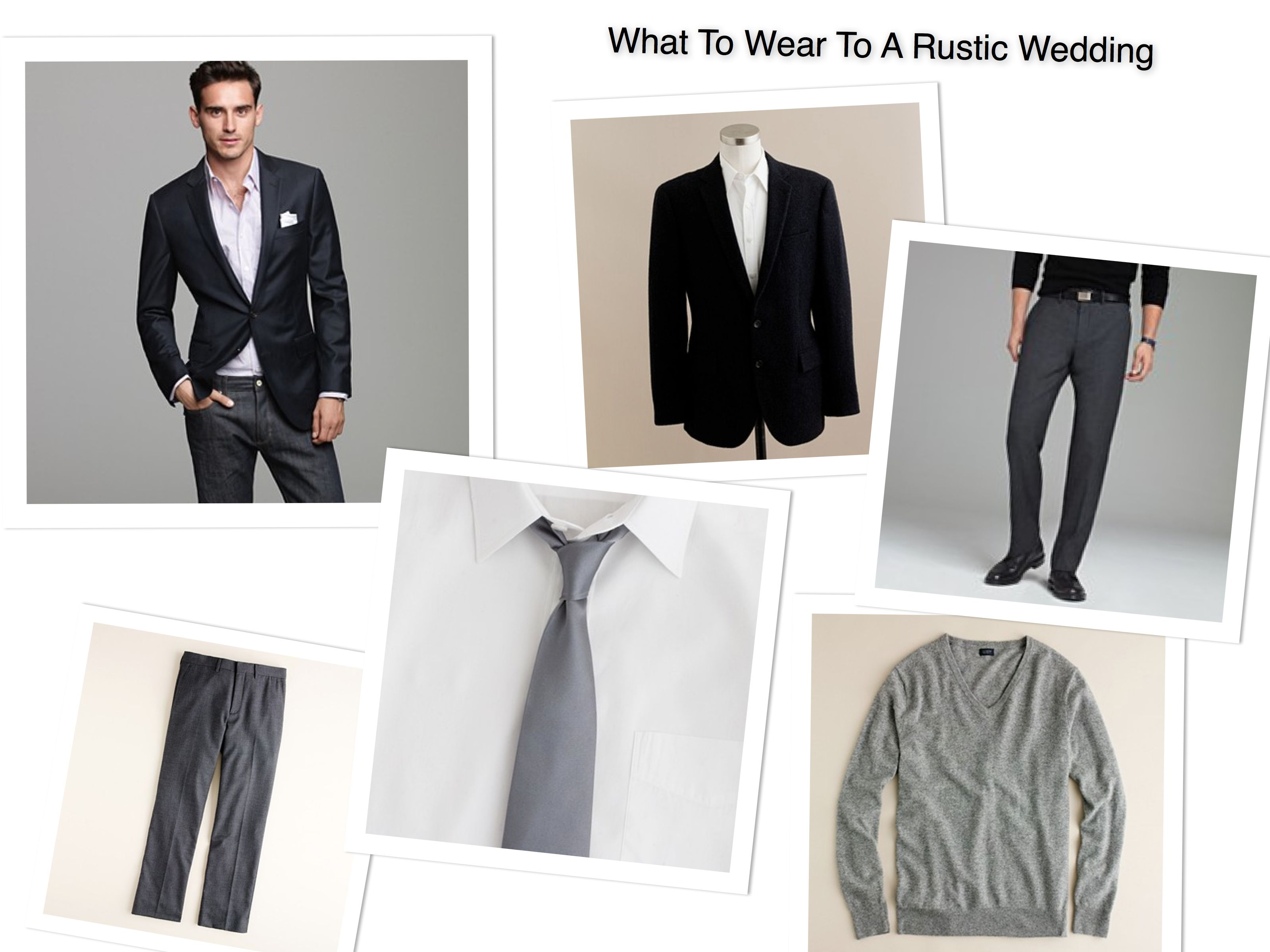 What A Man Should Wear To A Rustic Wedding