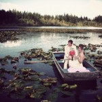 Rustic Wedding Couple In A Boat
