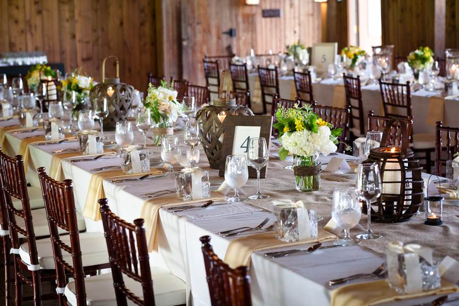 Rustic Table Decor Wedding Photograph | Virginia Country Wed