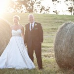 Farm Chic Country Wedding With Hay Bales