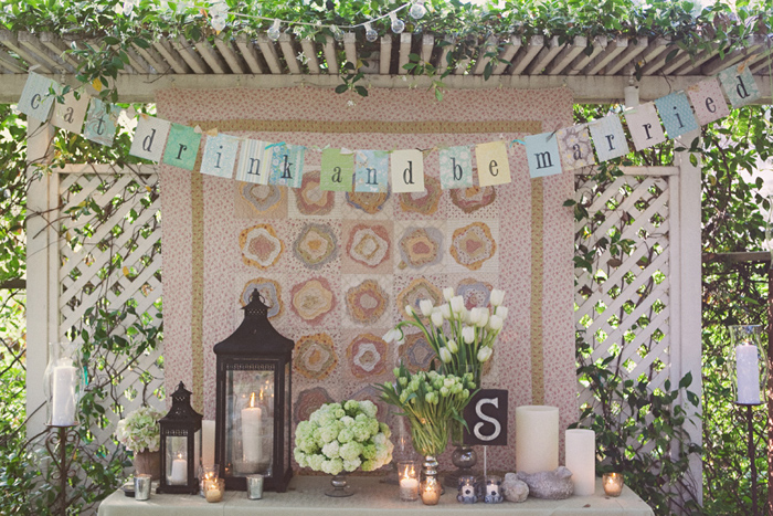 Vintage Backyard Decor : vintage style rustic outdoor wedding rustic wedding chic this vintage