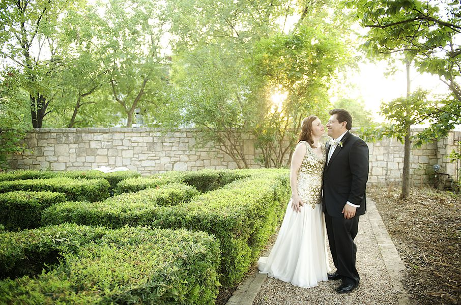 Vintage Style Gold Wedding Gown