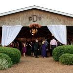 Monogrammed Barn Wedding