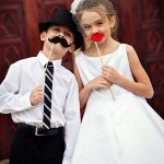 Ring bearer and flower girl for rustic wedding