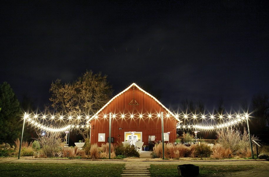 Colorado rustic wedding at denver botanical gardens for Wedding dress rental denver co