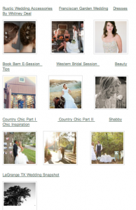 Weekly Rustic Wedding Recap for Jan 14 2012