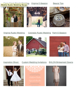 Weekly Rustic Wedding Recap For Jan 28 2012