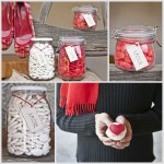 Red Candy Favors At Wedding