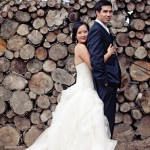 Rustic Chic Wedding Couple In California