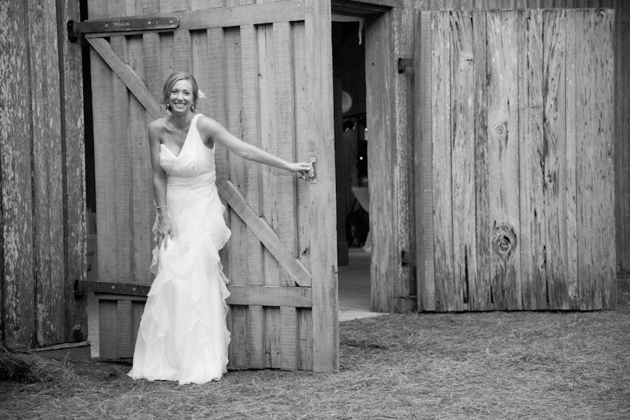 Rustic Bride At Plantation Wedding