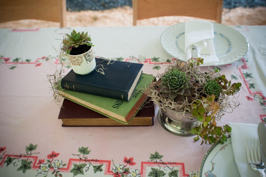 Wedding Centerpiece With Books