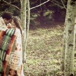 Rustic Wedding With Pendleton Blanket