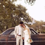 Rustic Wedding Couple At Texas Wedding