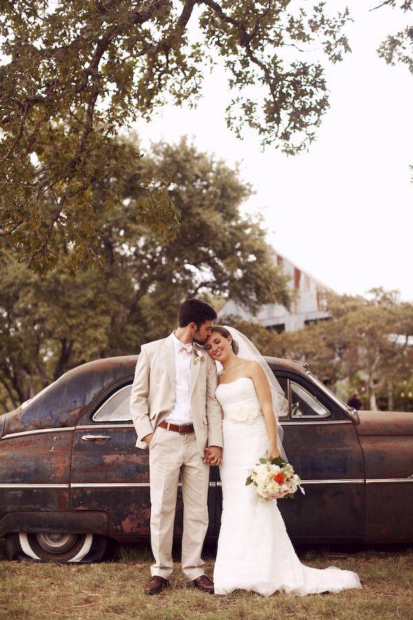 Rustic Wedding Couple At Texas Wedding