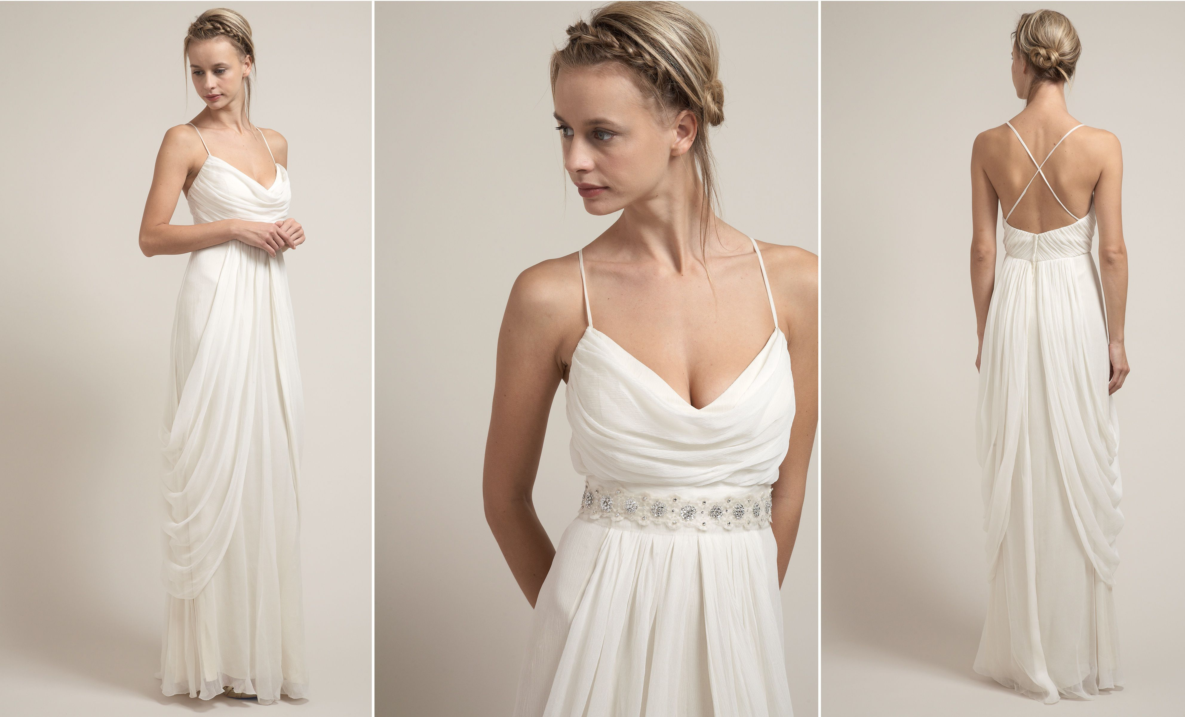 Chic And Simple Wedding Dresses By Cabotine: Rustic Wedding Gowns By Saja