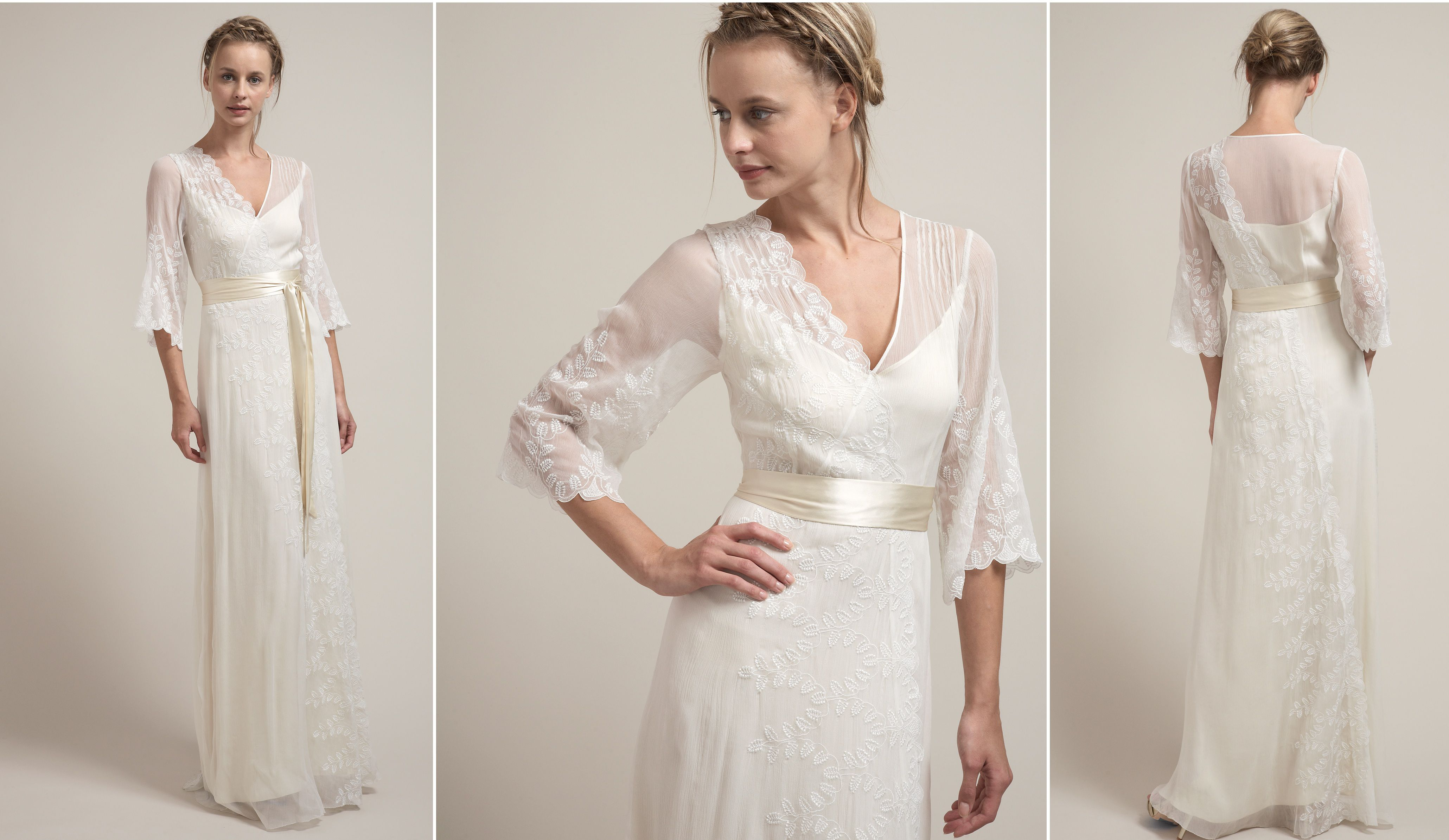 Boho Chic Vintage Style Wedding Gown