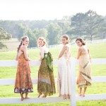 Rustic Country Bride & Bridesmaids