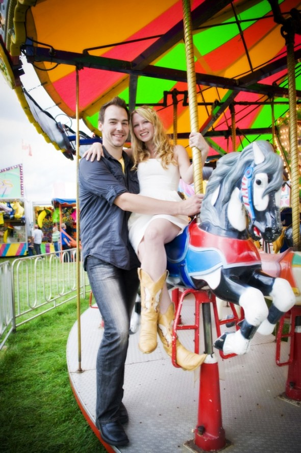 Carnival Themed Engagement Session Rustic Wedding Chic