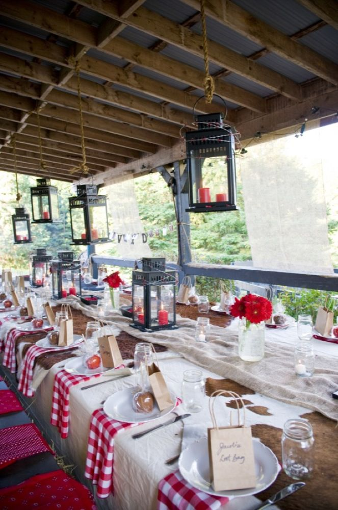 Western Style Rehearsal Dinner Rustic Wedding Chic